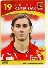 FOOTBALL carte joueur CHRISTOPH CEMERNJAK équipe TRENKWALDER ADMIRA signée