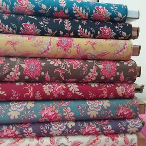 Dutch Heritage DHER 1022  Eight Colours Cotton Fabric, 110cm wide per 25cm