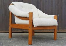 60er Teak Sessel Lounge Easy Chair Danish Mid-Century Vintage Jalk Wanscher Ära