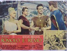 ROMOLO E REMO storico peplum Corbucci REEVES SCOTT LISI  fotobusta 1961
