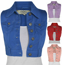 Denim Cropped Casual Coats & Jackets for Women