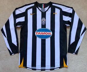 Nike 2005/06 Juventus Long Sleeve Home Jersey M shirt kit tamoil del piero kit