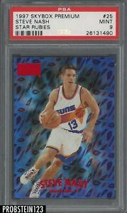 1997-98 Skybox Premium Star Rubies #25 Steve Nash Phoenix Suns 28/50 PSA 9 POP 1
