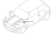 MINI R56 Engine Compartment Lid Left Decorative Strip 51147345001 NEW GENUINE