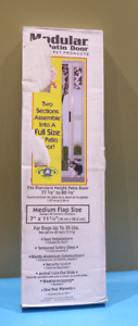 "IDEAL PET PRODUCTS MODULAR PATIO DOG DOOR WHITE MEDIUM FLAP 77 5/8"" - 80 3/8"""
