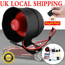 Car Burglar Protection System Anti-theft Alarm Security Shock Sensor Horn Remote