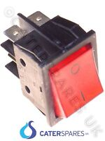 16 AMP RED ROCKER SWITCH POWER ON OFF DOUBLE POLE 4 PIN 22X31MM 230V PART CSUK