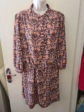 Size 16 Black/Brown/Brown Flowery Summer/Autumn Dress