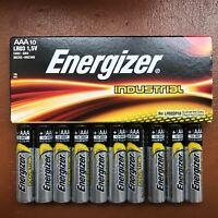 10 x Energizer AAA Battery Alkaline Industrial Batteries 1.5 V LR03 Expiry 2027