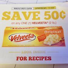10 - $.50 off 1 Velveeta (2lb) Cheese Coupons Exp 7/31/2020