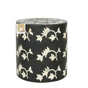 Bone Inlay Stool Home Decor Furniture Side Table lamp table night stand  Decor9