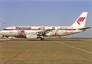 Martinair's JETIX Airbus A320-200 PH-MPE in 2007 Postcard