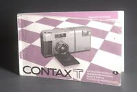 Contax Genuine T Camera Instruction Book / Manual / User Guide