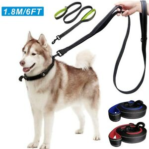 6FT Dog Training Lead with Reflective Double Handle for Traffic Control Safety