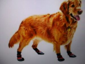 NEW Dog Boots - Set of 4 with Leather Soles - Extreme All Weather  - X-Large