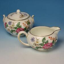 Wedgwood China - Charnwood Floral Butterflies - Creamer and Covered Sugar Bowl