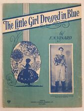 RADIO KMTR sheet music THE LITTLE GIRL DRESSED IN BLUE Los Angeles, CA 1932