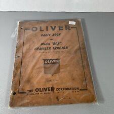 Original Oliver Model Bgs Crawler Tractor Parts Manual Printed 1959