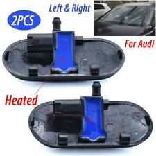 2PCS Heated Windscreen Wiper Washer Jet Left Right Spray Nozzle 2 Holes For Audi