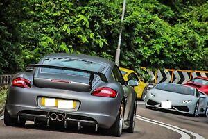 Carbon Fiber Rear Diffuser for Porsche Cayman 987 2005-2012 987.1 987.2