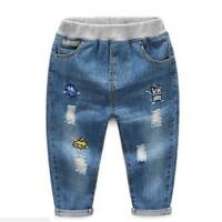 Fashion Boys baby boy kids warm Jeans for Spring Fall Children's Denim Trousers