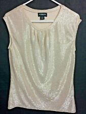 Liz Claiborne Women's Pearl Colored Pullover Sleeveless Top - Size S