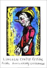 Jim Dine Pinocchio Lincoln Center 50th Anniversary Silkscreen Poster