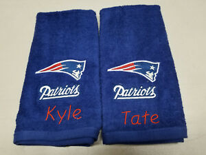 New England Patriots Football Bath Towel Set, Personalized Football Sports Team