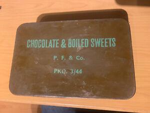 Ww2 Ration Tin Chocolate & Boiled Sweets