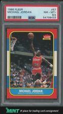 1986 Fleer Basketball Michael Jordan ROOKIE RC #57 PSA 8.5 NM-MINT+ HOF GRAIL