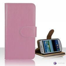 Fundas y carcasas liso de color principal rosa de piel sintética para teléfonos móviles y PDAs