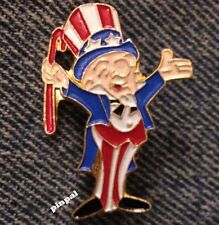 Mr Magoo  Enamel Brooch Pin ~ Uncle Sam ~ UPA Pictures ~ 1975 vintage