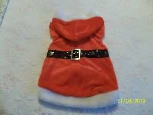 👀  Novelty Santa Outfit For Dog or pet ~  Hooded Christmas Coat Costume ~
