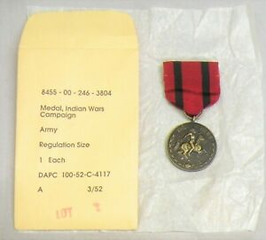 U.S. GOVERNMENT ISSUE REPLACEMENT INDIAN WAR MEDAL