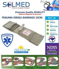 "FIRST CARE MILITARY 6"" ISRAELI TRAUMA COMPRESSION BANDAGE WITH PRESSURE BAR"