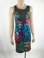 YOUNG BLOOD Multicoloured Dress Size M/L Stretch Sexy Bodycon Party