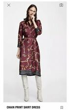 "Zara Multicolore Chaîne Imprimé Robe Chemise Taille XL ""sold out"""