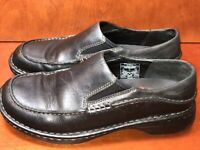 Womens Merrell Tetra Moc Black Leather Slip on Loafer Shoes Size US 7.5
