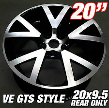 1 x 20x9.5 inch VE GTS MACHINE BLACK Alloy Wheel HOLDEN COMMODORE VL VK VT VY VZ