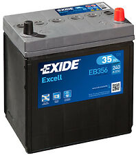 Batteria auto EXIDE EB356 35AH ampere 240A dx Excell cod. 3661024034333