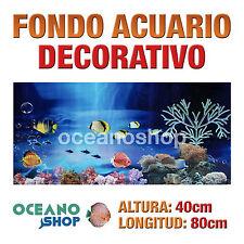 FONDO 80x40cm ACUARIO DECORATIVO VINILO PECES MARINOS CALIDAD D426
