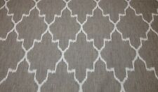 "BALLARD DESIGNS INDOCHINE IKAT STONE GRAY DESIGNER FABRIC BY THE YARD 55""W"
