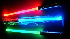 Two Led LIGHTSABER sword changes 3 colors realistic STAR WARS like with sound
