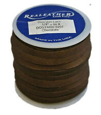 """50 Ft. Deerskin Chocolate Leather Lace 1/8"""" Craft and Jewelry Beading Cord"""