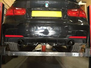 BMW 335I, 335D CARBON TAILPIPE UPGRADE, STAINLESS EXHAUST SYSTEM
