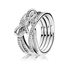 New Fashion Silver White Topaz Wedding Anniversary Gifts Bow Ring Women Jewelry