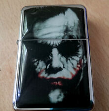 THE JOKER BLACK STAR BRAND CIGARETTE LIGHTER BATMAN MOVIE & EXTRA ZIPPO FLINTS