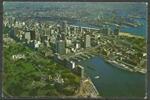 Postcard Australia New South Wales Sydney Aerial View Harbour Ships Unposted