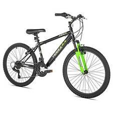 "Kent Terra 2.4 - 24"" Boys' Mountain Bike 21 Speed - Black/Green"