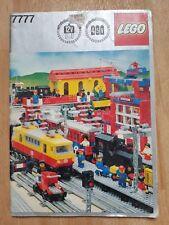 VINTAGE LEGO TRAIN CATALOGUE 1980s BROCHURE BOOKLET 84 PAGES TOY MEMORABILIA